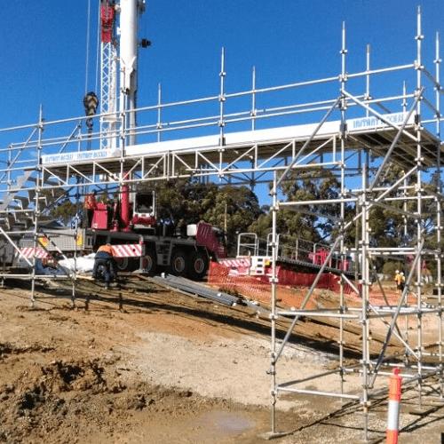 Scaffold Bridge Construction