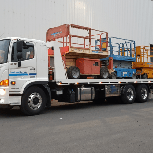 Truck with EWPs